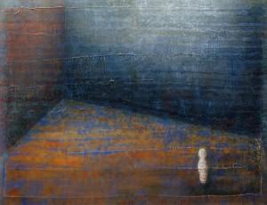 Großer Raum, 2010, Mischtechnik auf Papier auf Holz, 56x73 cm